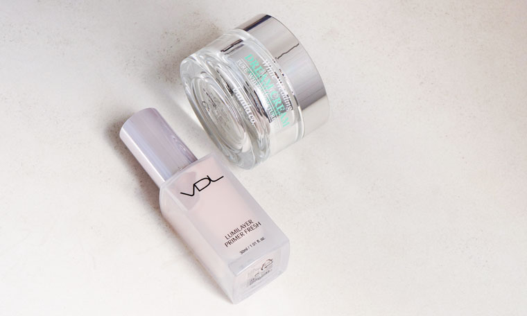 VDL's Lumilayer Primer Fresh and Banila Co's White Wedding Dream Cream makeup-booster