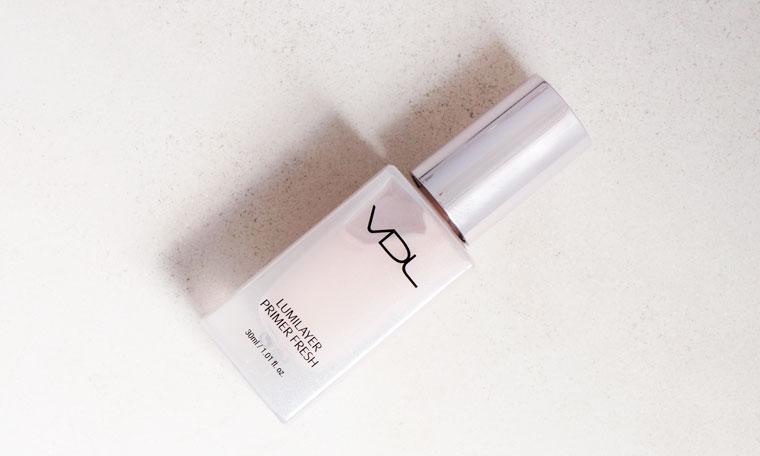 VDL's Lumilayer Primer Fresh make-up booster look chic in a lavender bottle
