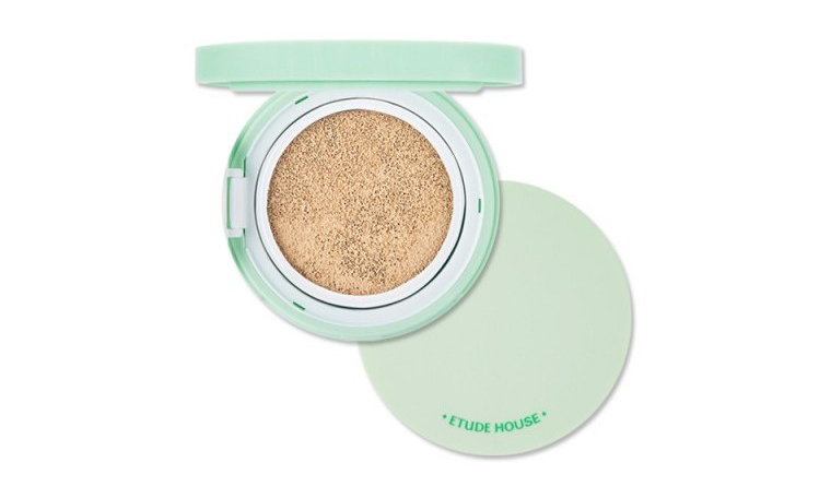 Etude House AC Cleanup Mild BB Cushion SPF 50/PA is a cushion compact that has an acne-fighting tea tree oil