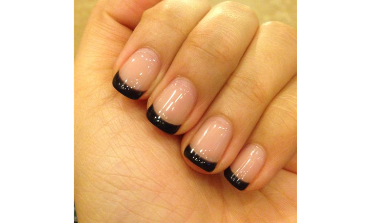 Dark French tip for nails