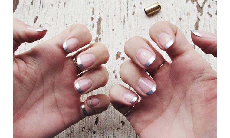 Hint of silver nail polish