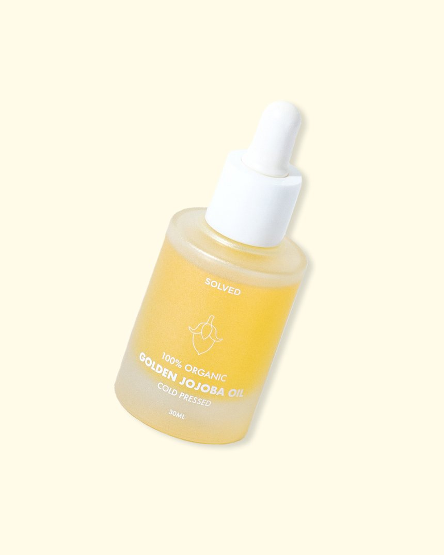 Solved Skincare 100% Organic Golden Jojoba Oil
