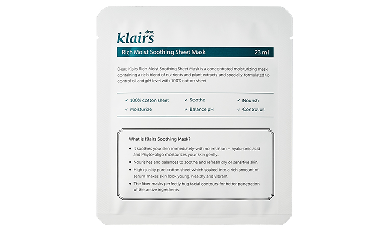 The best sheet mask for your skin type: Klairs