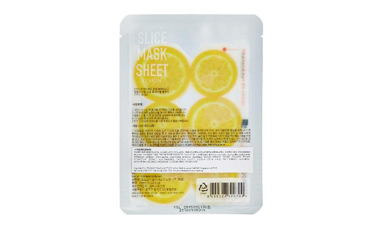 The best sheet mask for your skin type: Kocostar Lemon sheet mask