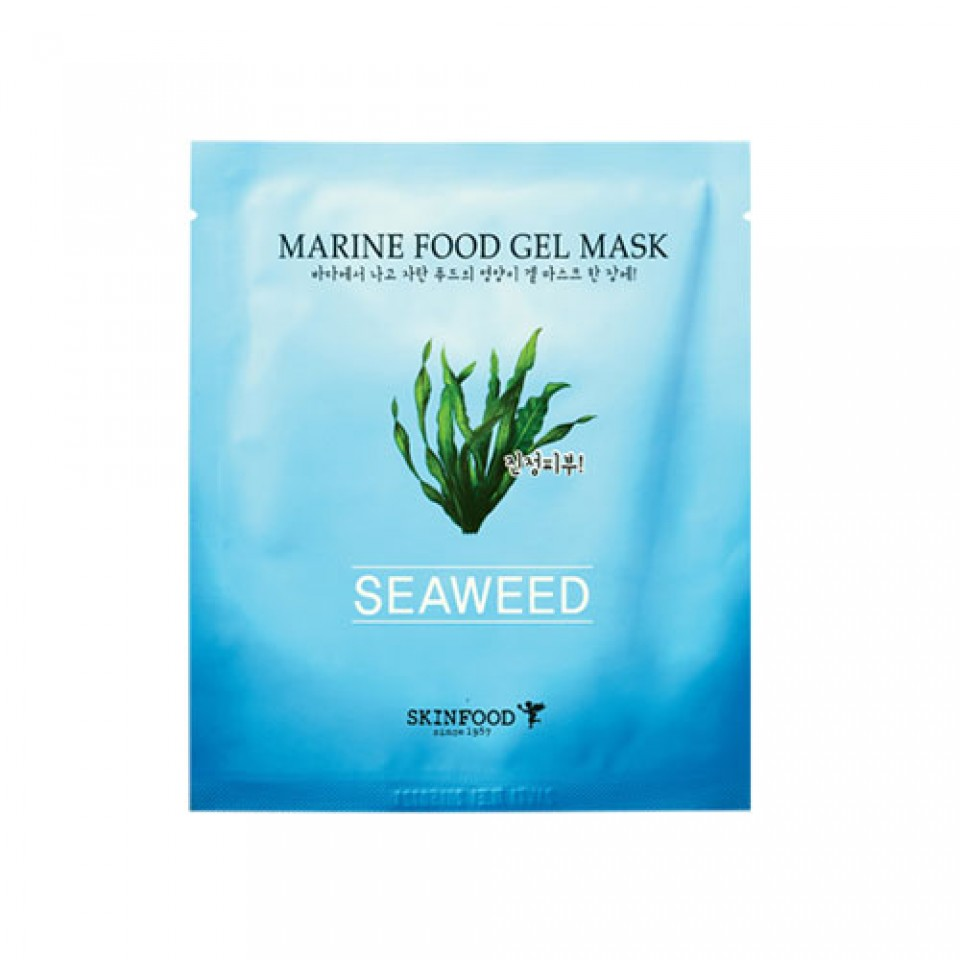 Skinfood Marine Food Gel in Seadweed sheet mask - Why You Should Use Algae In Your Skin Care Routine