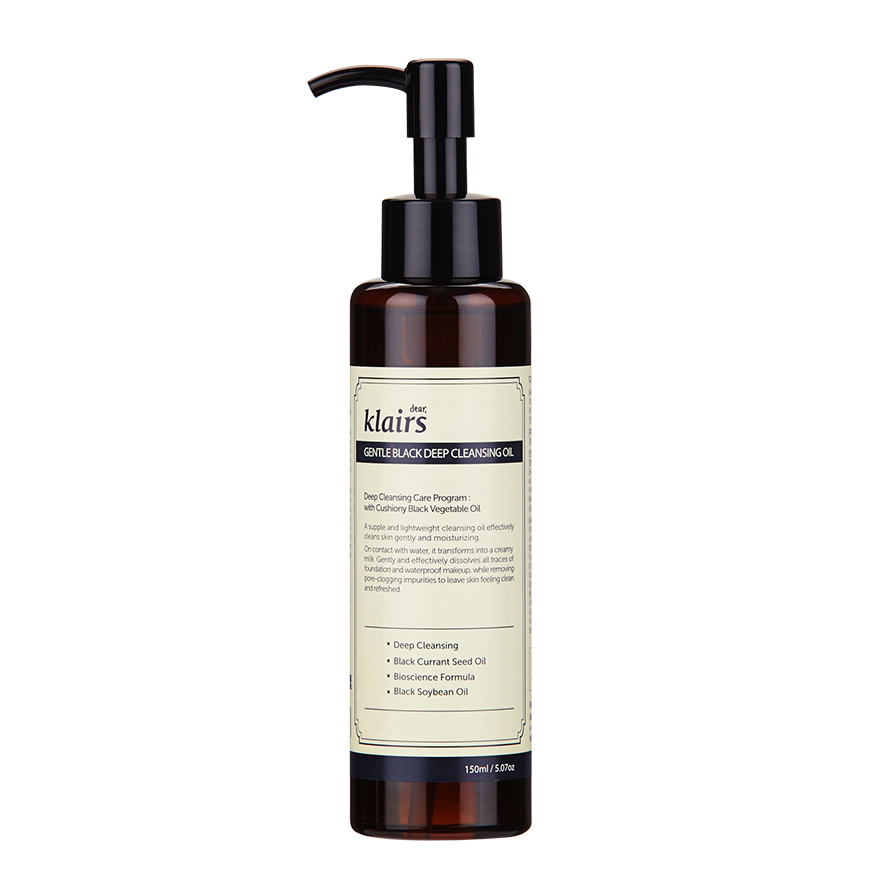 How to treat your pores: Klairs Gentle Black Deep cleansing Oil