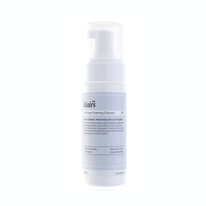 Klairs-Rich-Moist-Foaming-Cleanser-