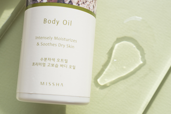 missha oatmeal enriched body oil