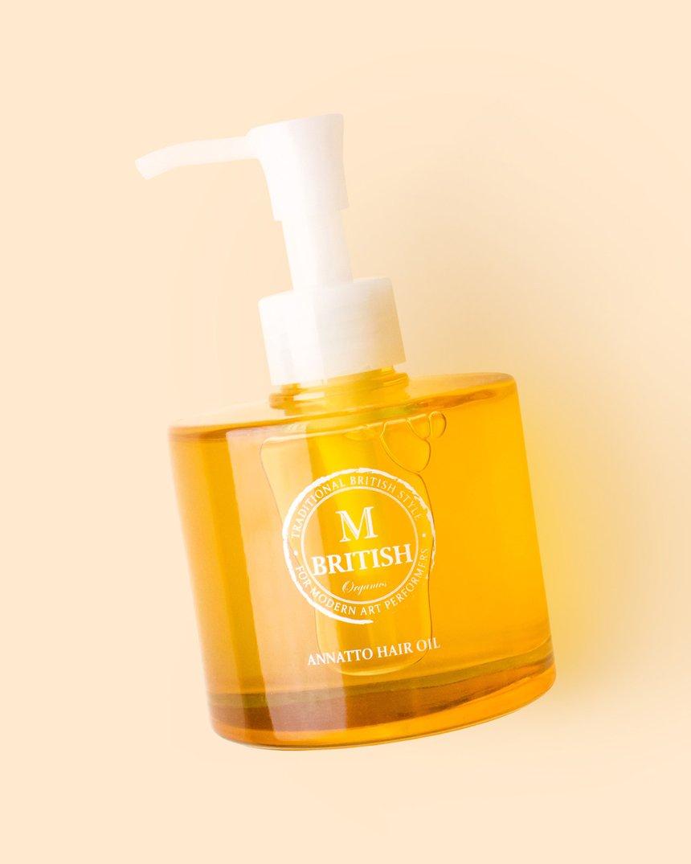 British M Annatto Hair Oil